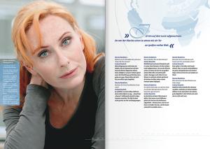 Emotional Branding: In der Testimonial-Broschüre über den Diercke Weltatlas kommen unter anderem prominente Persönlichkeiten zu Wort.