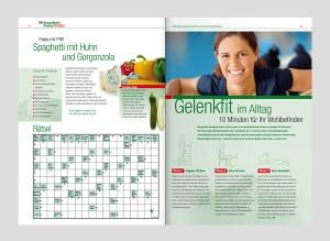 Corporate Publishing am POS: Das Magazin GesundheitsPartner für LTS greift POS-Aktionen redaktionell auf und trägt so zur Kundenbindung und -gewinnung bei.