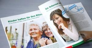Corporate Publishing: Das Magazin PflegeLeicht richtet sich an Pflegedienste und eignet sich dank kurzen, fachrelevanten Artikeln perfekt als Lektüre für zwischendurch.