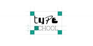Die festgelegten Logomaße im Corporate Design von TypeSCHOOL, entwickelt von Lehnstein.
