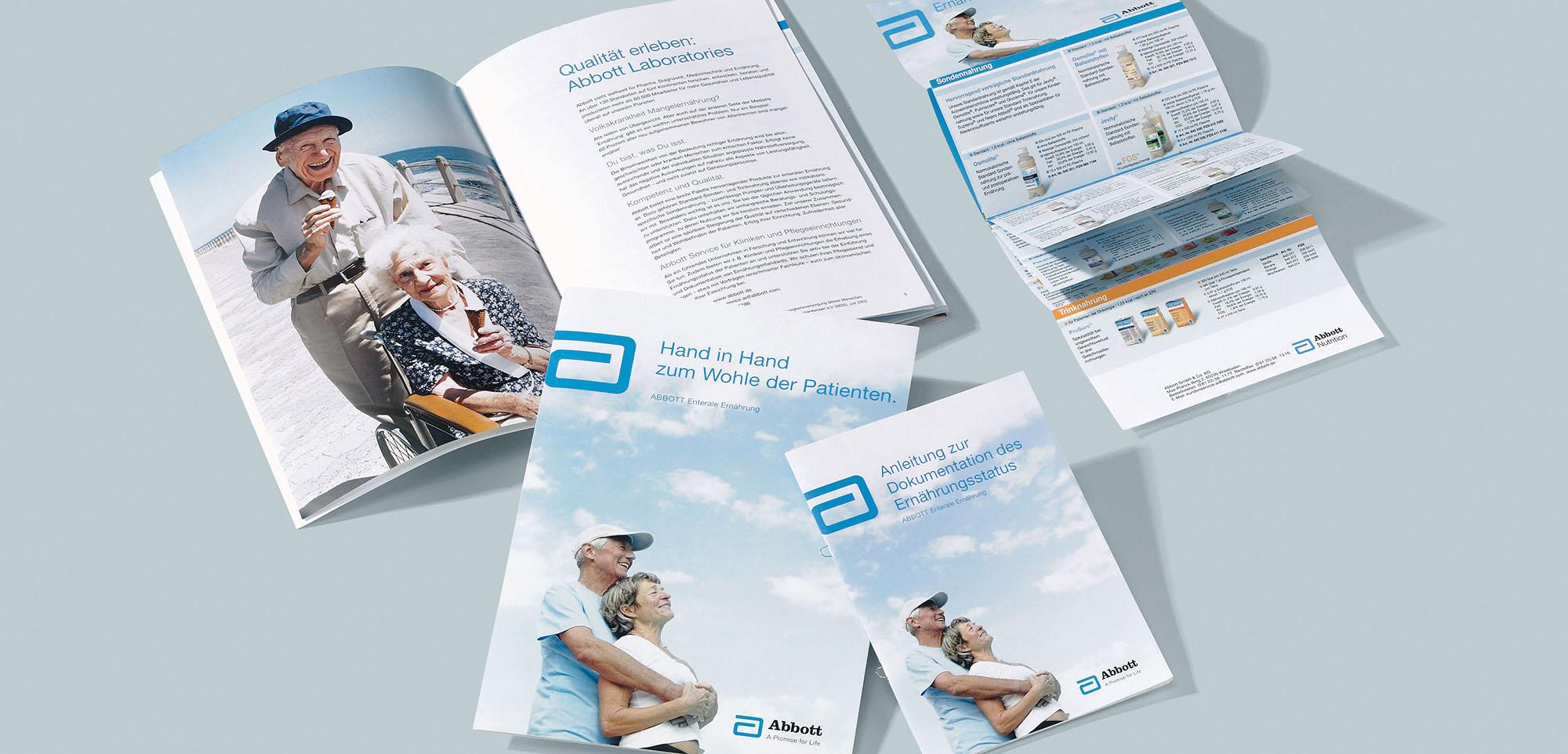Abbott enterale Ernährung Produktliteratur – Werbeagentur Lehnstein Koblenz Referenz