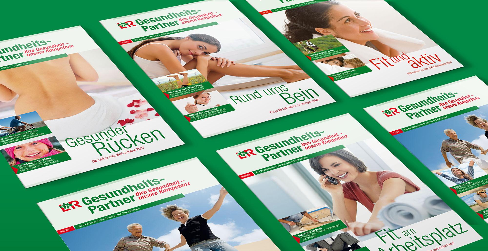 L&R GesundheitsPartner Magazin – Werbeagentur Lehnstein Koblenz Referenzen