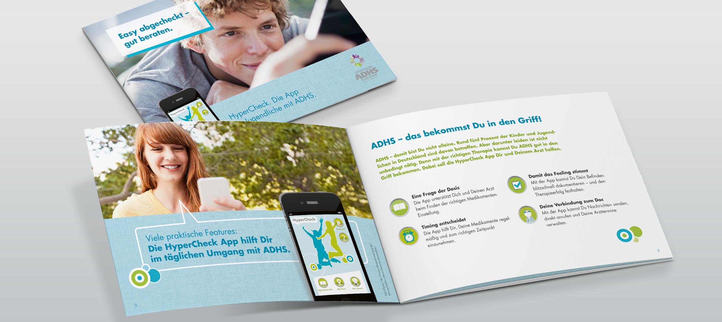 ADHS App Hypercheck Infomaterial – Werbeagentur LEHNSTEIn Koblenz Referenz